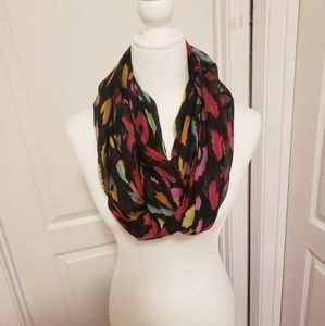 Multi colored leopard print infinity scarf